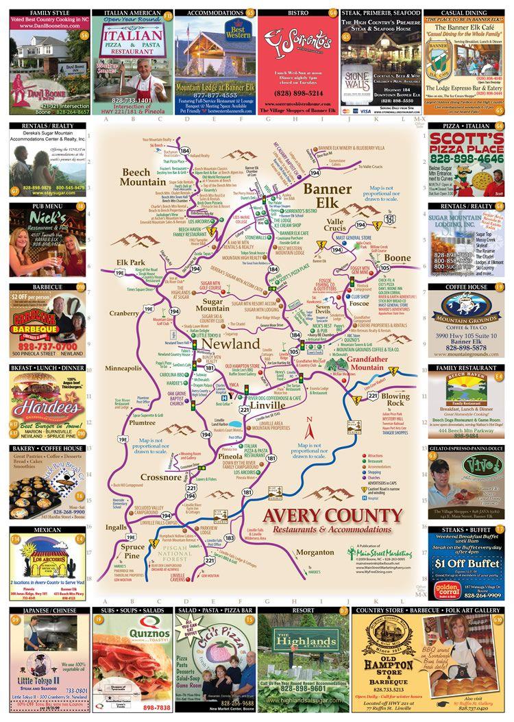 Avery County Restaurants Map Banner Elk Nc Banner Elk Banner