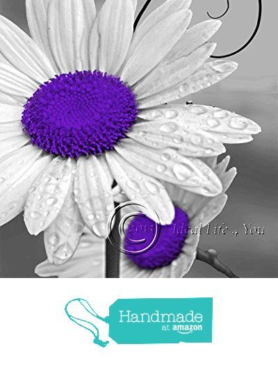 Daisy Left - Purple Floral Wall Art Photography Home Decor Picture Living Room Bedroom from Canvas Wall Art 4 You https://www.amazon.com/dp/B01LHX0BCA/ref=hnd_sw_r_pi_dp_Keb5xbCKTAWNH #handmadeatamazon