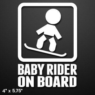 Baby Snowboard Rider On Board Custom Vinyl DecalSticker Custom - Custom die cut vinyl stickers snowboard