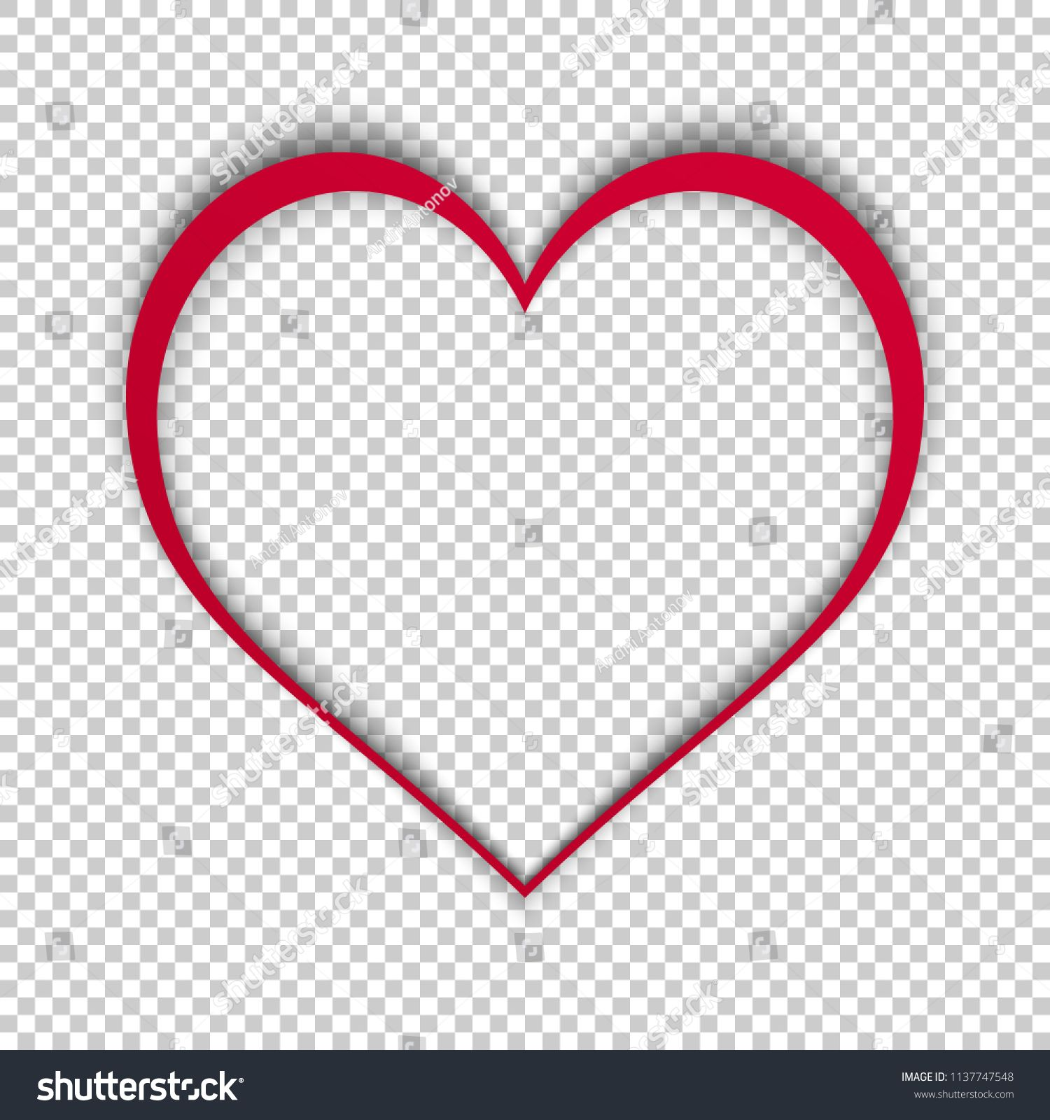 Simple Vector Heart Isolated On Transparent Background Modern