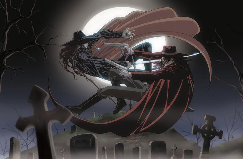Alucard Of Hellsing With D Of Vampire Hunter D Wallpaper Kind Of Bad Quality But Still Quite Cool Vampire Hunter D Vampire Hunter Alucard