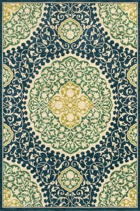 Shaw Melrose San Marino Indigo 27400 Area Rugs Area Rugs Shaw Rugs Floral Area Rugs