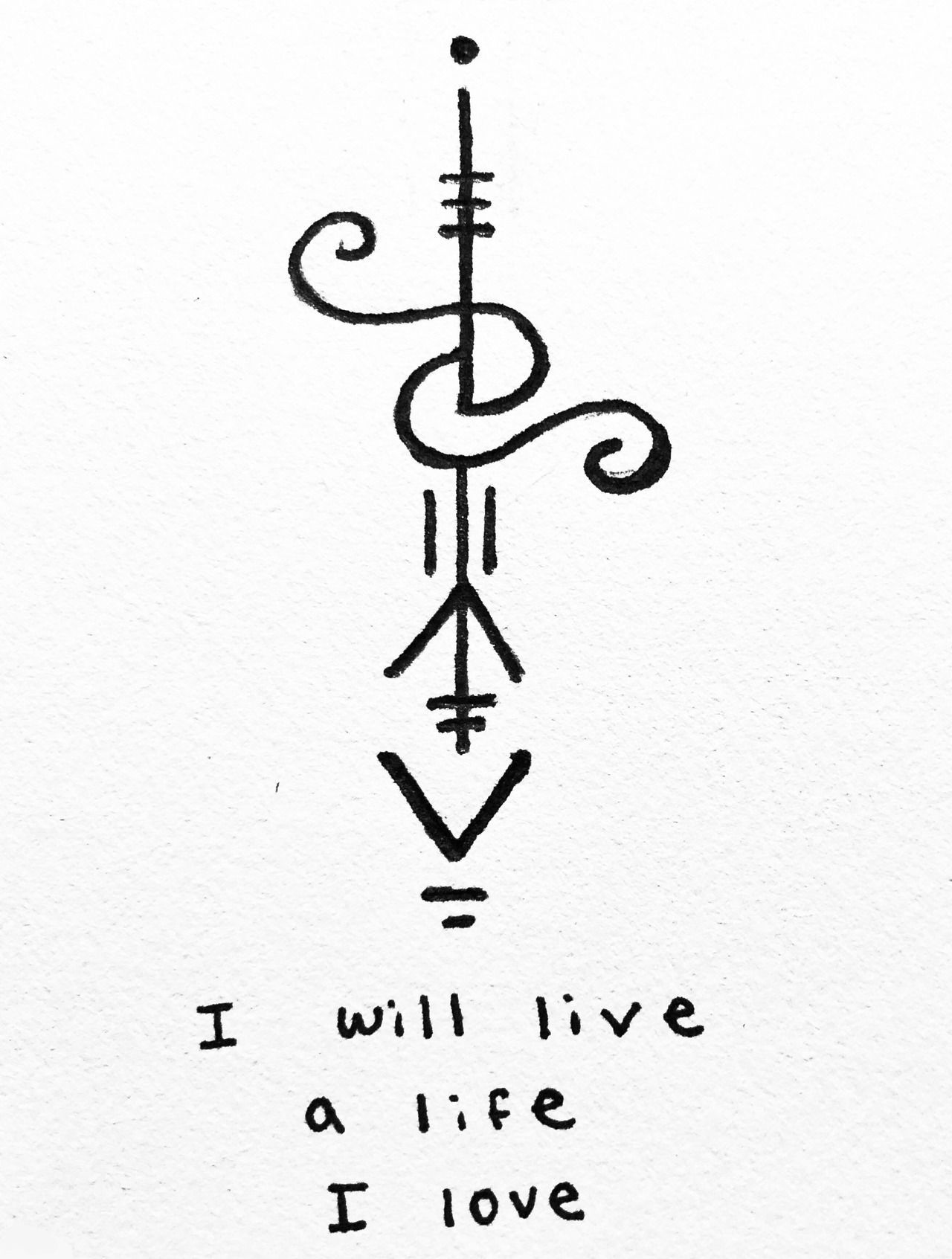 Power Of Three I Will Live A Life I Love Sigil For