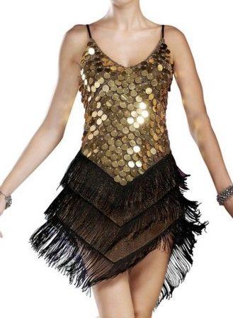 b3bd407f084c Sequin Fringe Sway Gatsby Flapper Dance Dress   dance costumes in ...