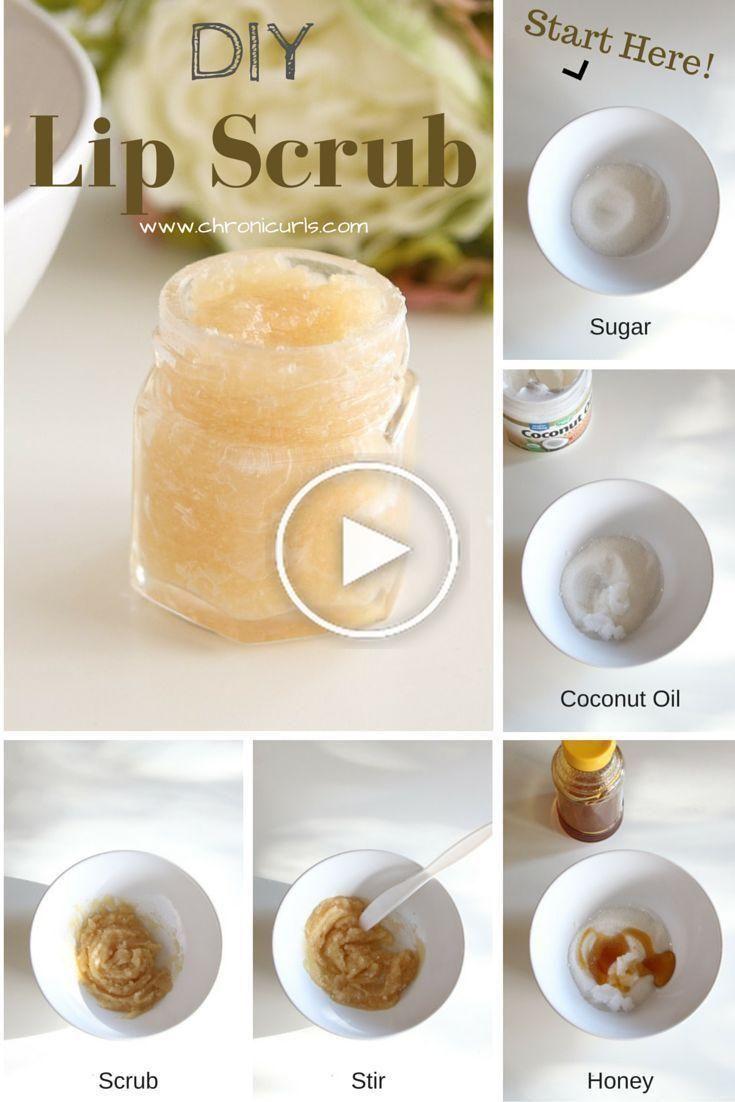 Coconut Oil On Lip Scrub Diy Lip Scrub Homemade Sugar Lip Scrub
