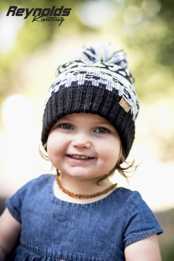 PDF Knitting Pattern – Gecko Toddler Beanie - Pompon Snow Hat ...