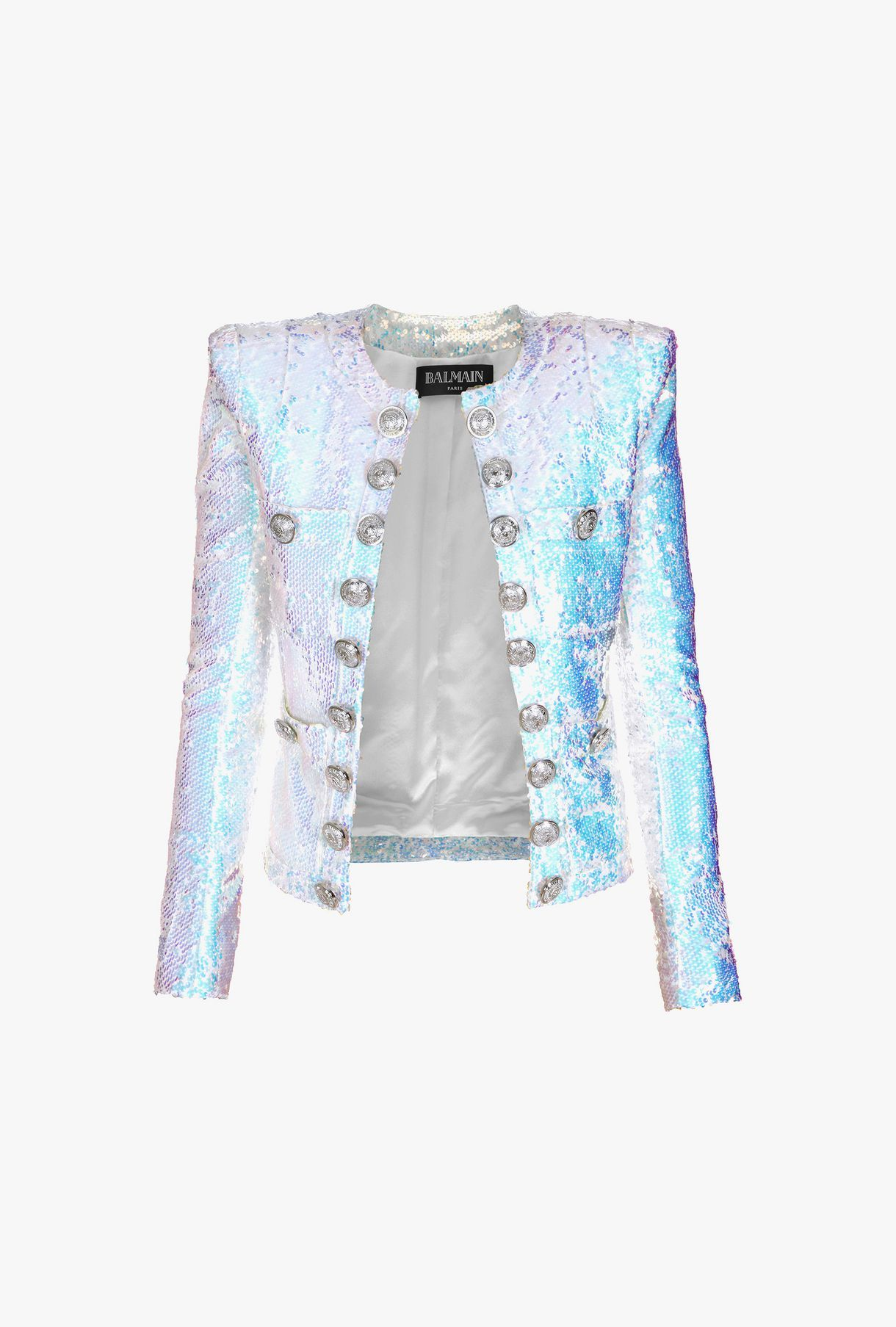 6592ef4f Balmain - Iridescent sequin straight-fit jacket | COATS/JACKETS in ...