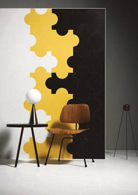 Marazzi Group Modena (Italy), a wall of a Moorish shape ceramic ...