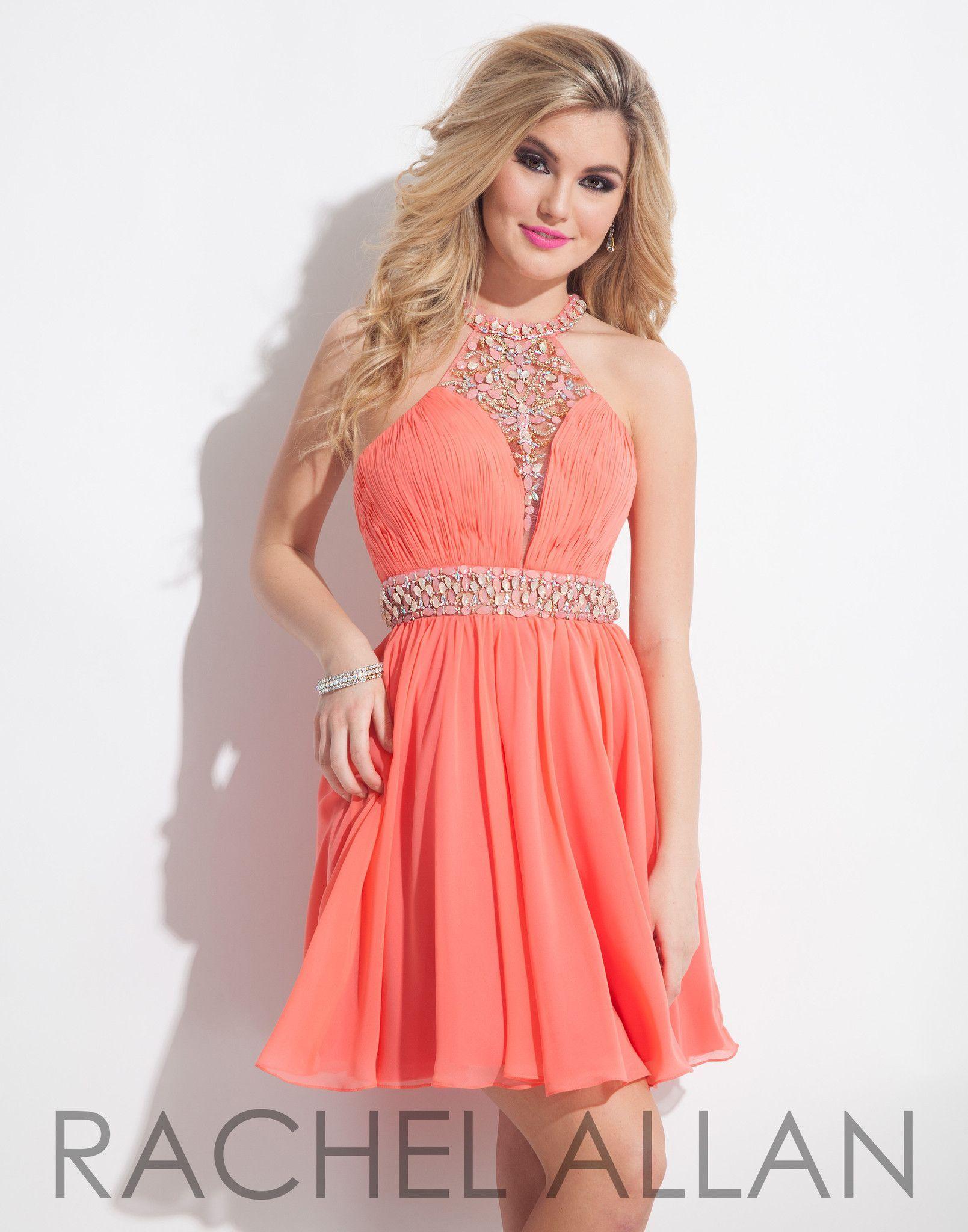 Rachel allan coral homecoming dress dresses pinterest