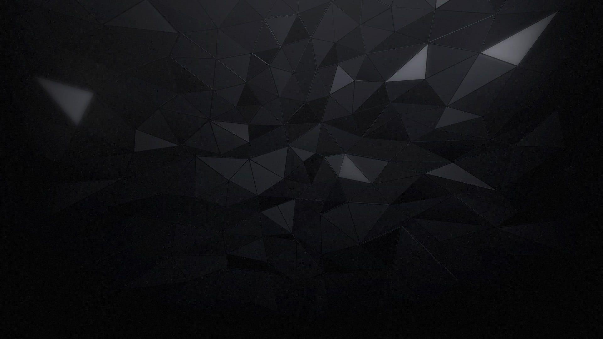 Black Crystal Illustration Minimalism Triangle Black Abstract 1080p Wallpaper Hdwallpaper Desktop In 2020 Abstract Crystal Illustration Abstract Artwork