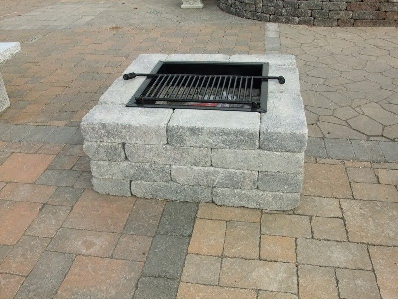 Pavestone Square Firepit Available 2 Colors 40 Square 16 Height Square Fire Pit Fire Pit Landscaping Rectangular Fire Pit