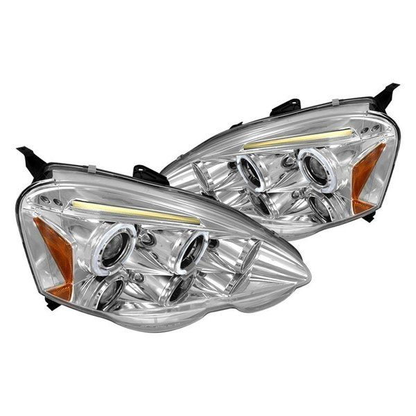 Spec-D 02-04 Acura RSX Halo Projector HeadLights -Chrome