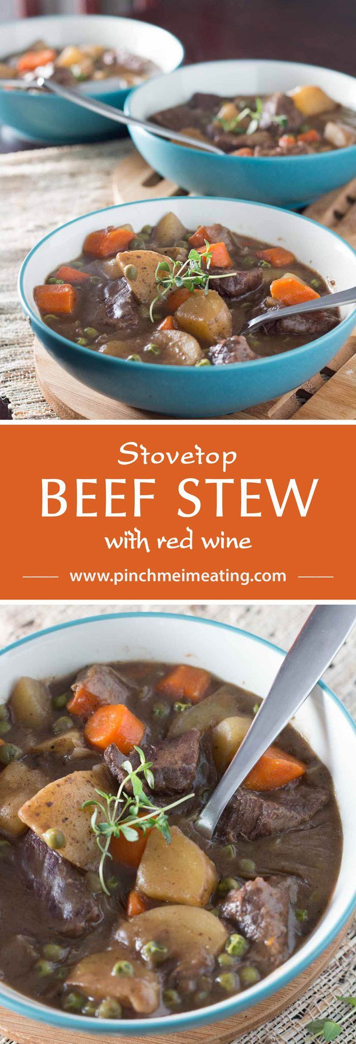 Photo of Easy Stove Top Beef Stew with Red Wine | Pinch me, I'm eatin…