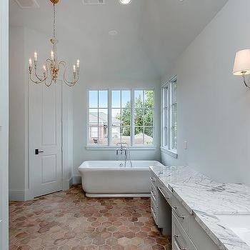 never mess with terracotta floor bathroom ideas and here's