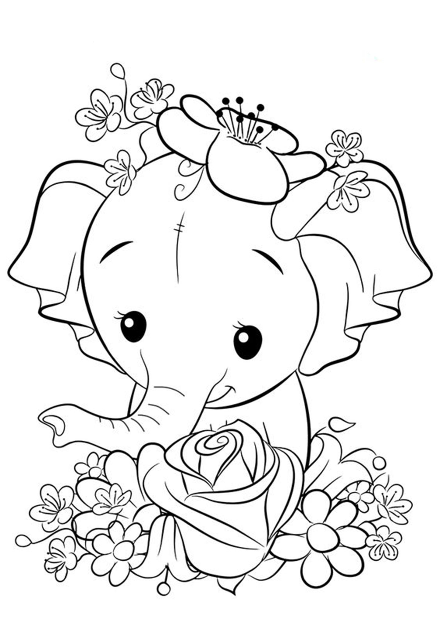 Free Easy To Print Elephant Coloring Pages Unicorn Coloring Pages Elephant Coloring Page Animal Coloring Pages