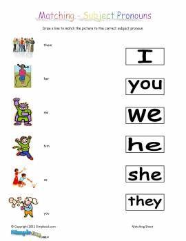 Kindergarten Worksheets Pronouns: Nominative Pronouns   C2 Week 4   Pinterest   English  Activities    ,
