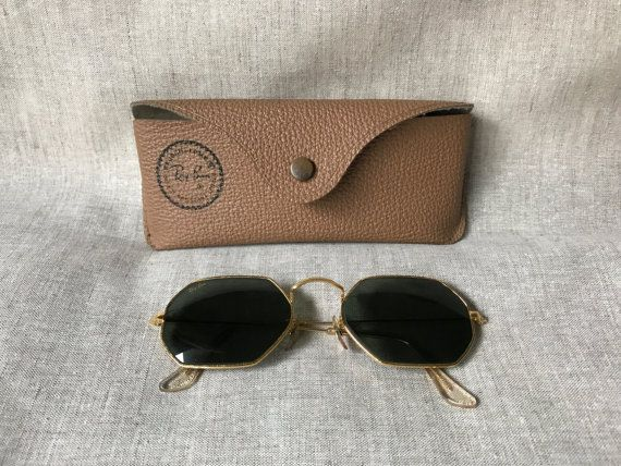 505554804f RARE Vintage Ray Ban Octagon Sunglasses Vintage Bausch  amp  Lomb Ray-Ban  W1535 Octagon