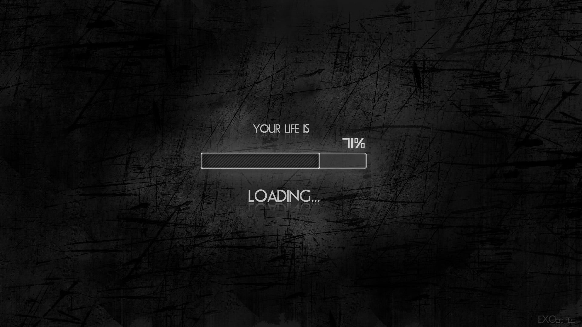 Your Life Is Loading Text Black Minimalism Humor Simple Background Typography Digital A In 2020 Desktop Wallpaper Motivational Wallpapers Hd Motivational Wallpaper