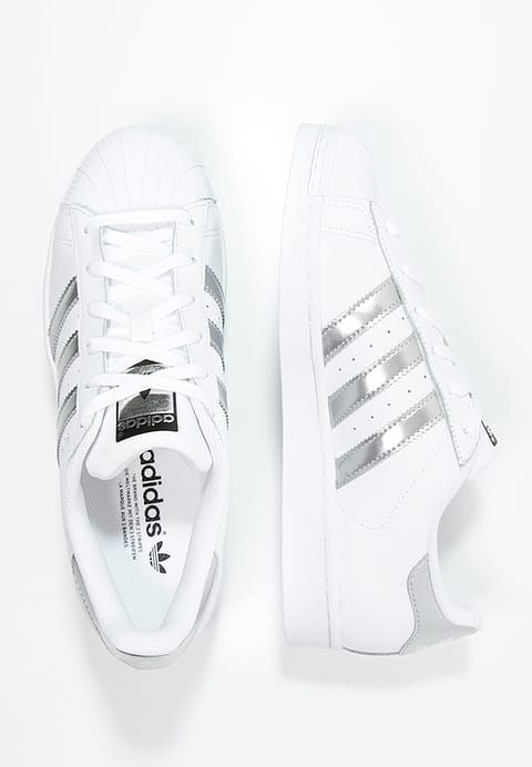 SUPERSTAR - Sneaker low - white/silver metallic/core black @ Zalando ...