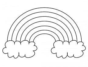 Ausmalbild Regenbogen Und Zwei Wolken Schablonen Vorlagen Mandalas Zum Ausmalen Schablonen Zum Ausdrucken