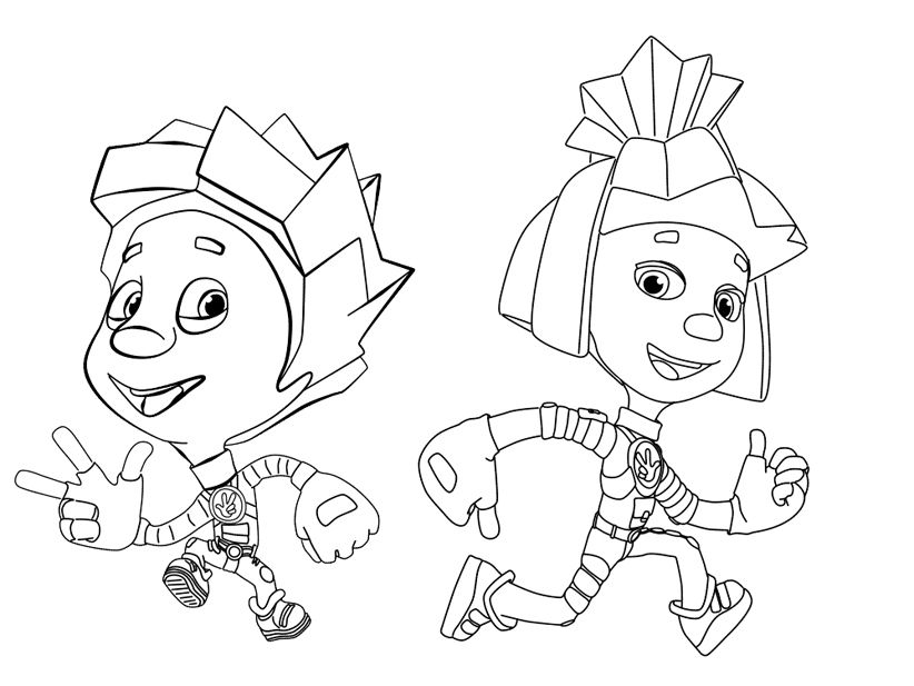 Раскраски Фиксики | Детские раскраски, Стрит-арт