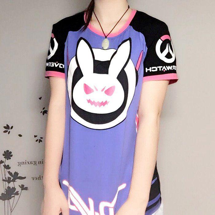 Overwatch D.Va DVA Rabbit Bunny T-shirt Ver.2 SD00914 0e42d381058e7