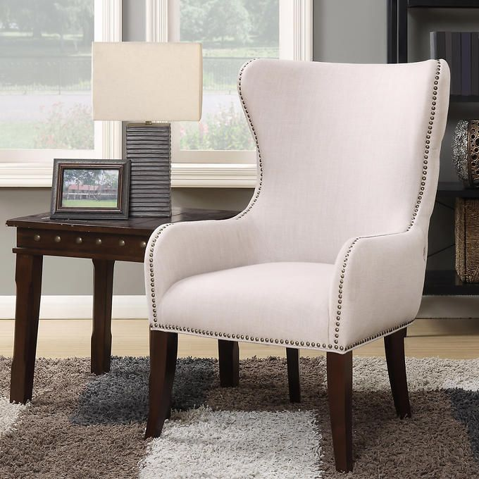 Laurel Hill Fabric Wingback Accent Chair Living Room