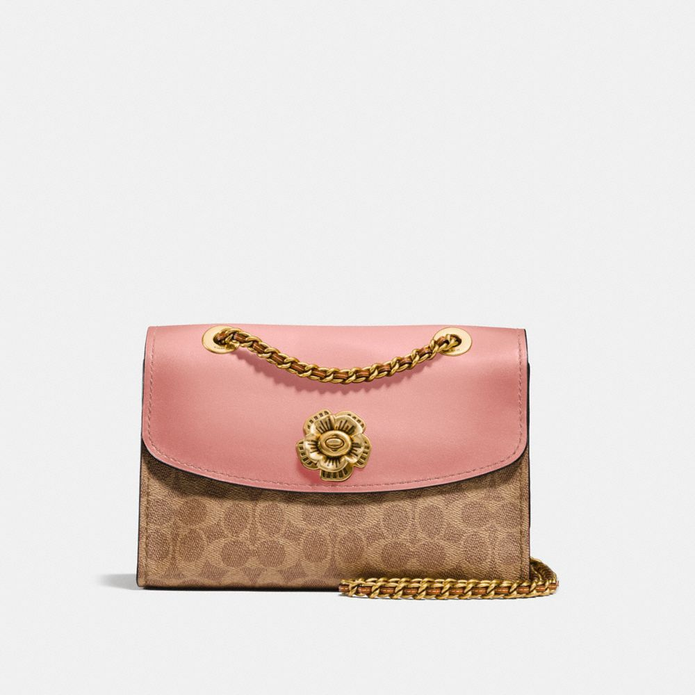 58de51a229 COACH Parker In Signature Canvas With Tea Rose Turnlock. #coach #bags #shoulder  bags #hand bags #canvas #leather #lining #