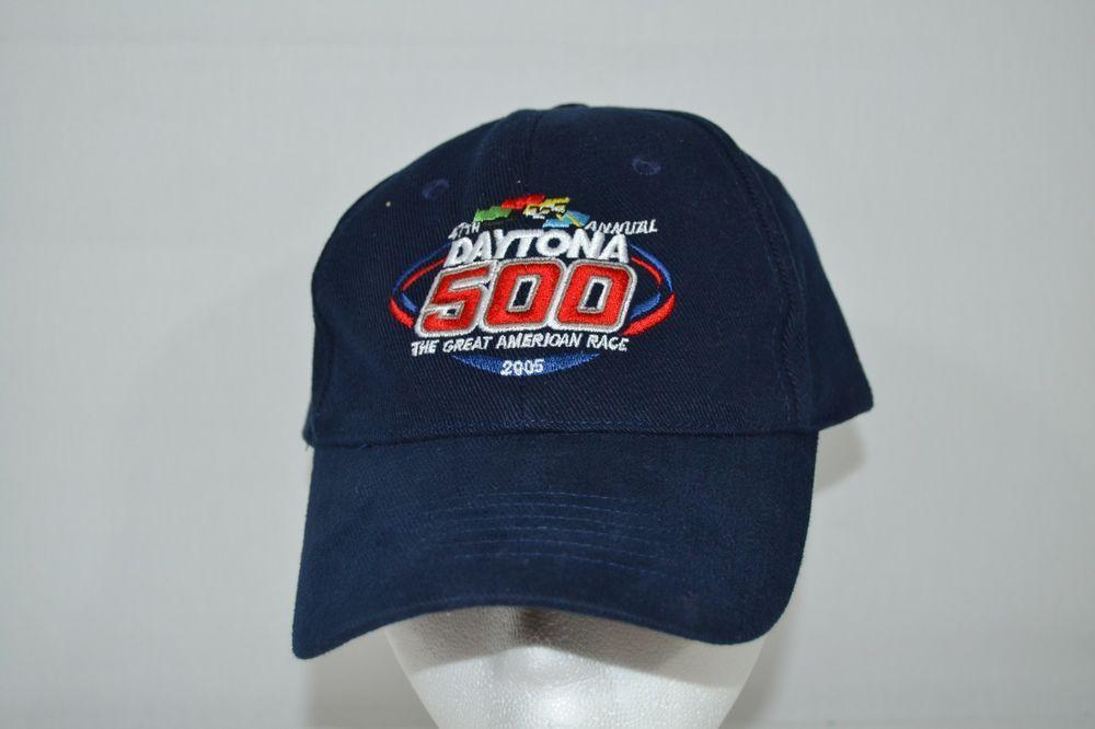 Racing-nascar Good 47th Annual Daytona 500 The Great American Race 2005 Hat Adjustable Strap Cap Sports Mem, Cards & Fan Shop