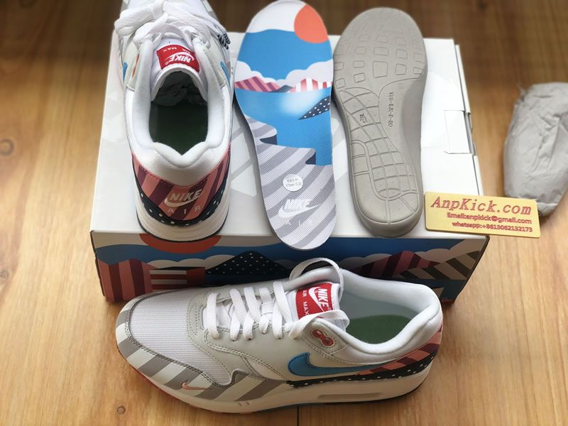 787aed9ee8d6 Parra x Nike Air Max 1 White Multi Color AT3057 100 Original Box Shoes  Insole -