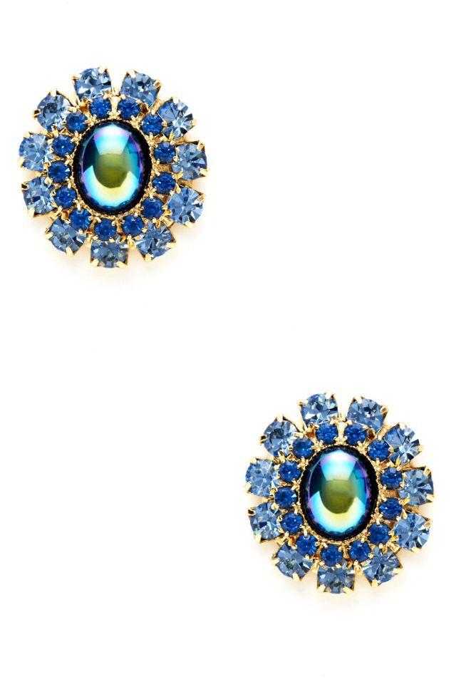 Blue/green earrings