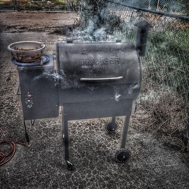 BBQ chicken night. #traegergrills #grillinglife #nebraskalife Reposted Via @k_coleman93