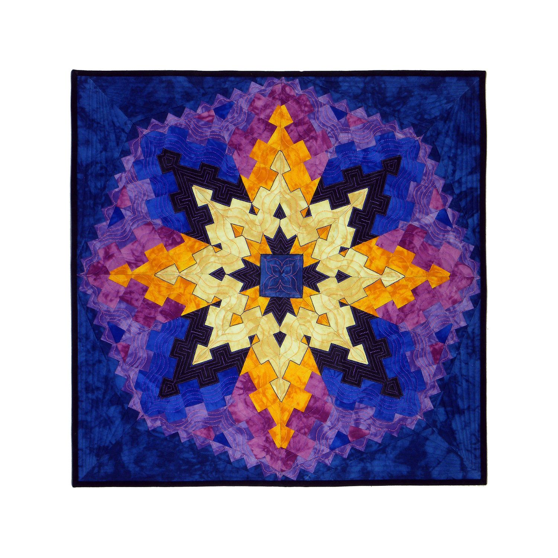 WALL QUILT / Kaleidoscope / Tube Strip by TubularStripPiecing, $240.00