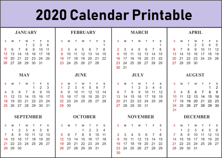 Free Printable 2020 Calendar Template Pdf Word Excel Page Blank 12 Mo Printable Calendar Template Free Calendar Template Free Printable Calendar Templates