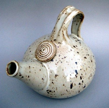Ceramic Teapot with Speckled Glaze by California-based Alina Hayes
