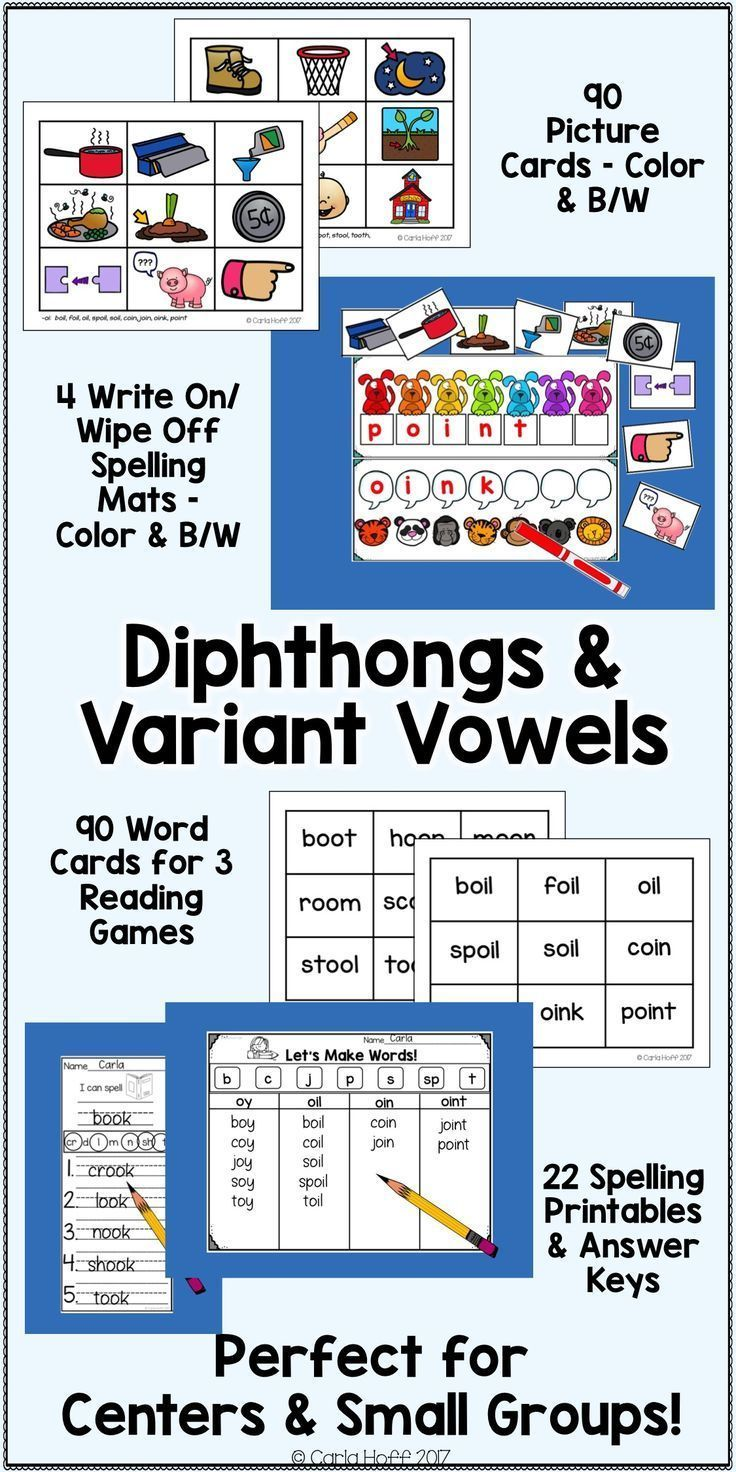 Diphthongs & Variant Vowels - Read & Spell
