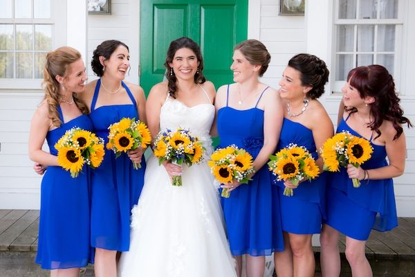 Best color schemes daisy yellow and royal blue my wedding best color schemes daisy yellow and royal blue junglespirit Image collections