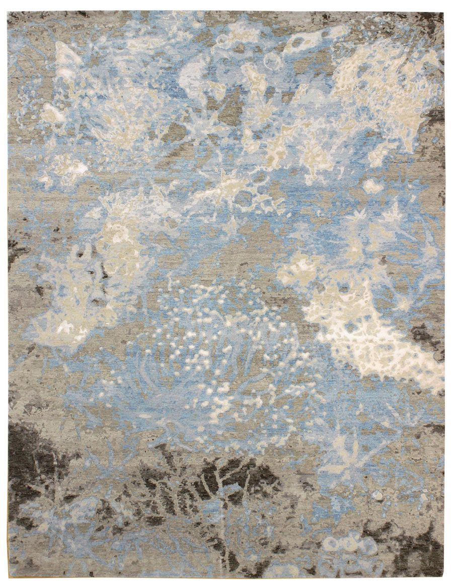 tissage: innovative rugs gallery: patinated-look rug, coral no. 4