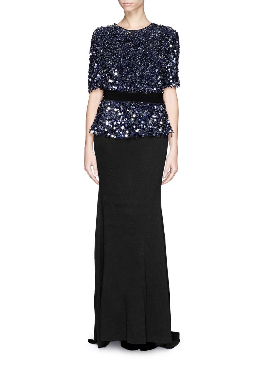 Shimmer with grandeur in this flattering Milano knit gown from St ...