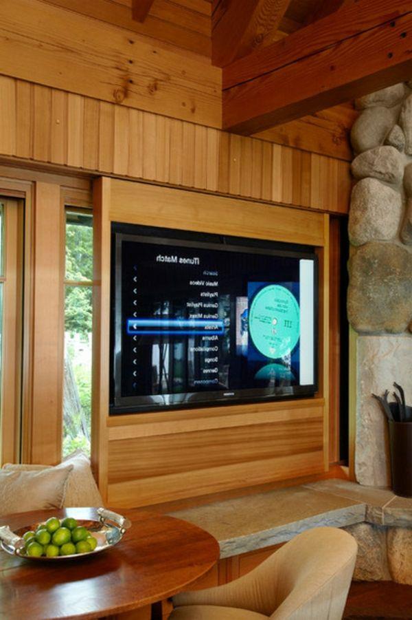 Verstecken Vom TV Holz Schrank Tisch Steine Idee