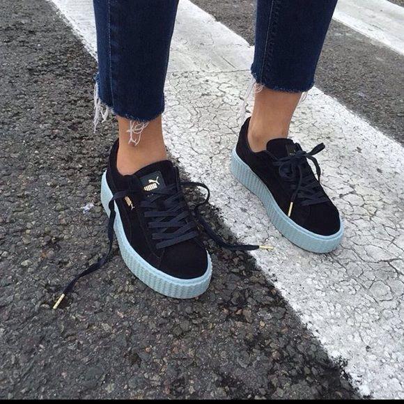 Rihana Puma creepers Navy bluecoral blue. Size 9.5 but will