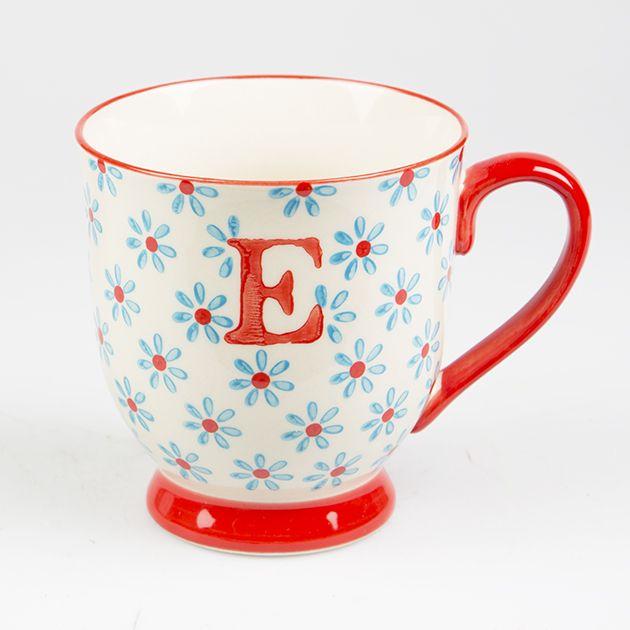Bohemian Mug Letter E