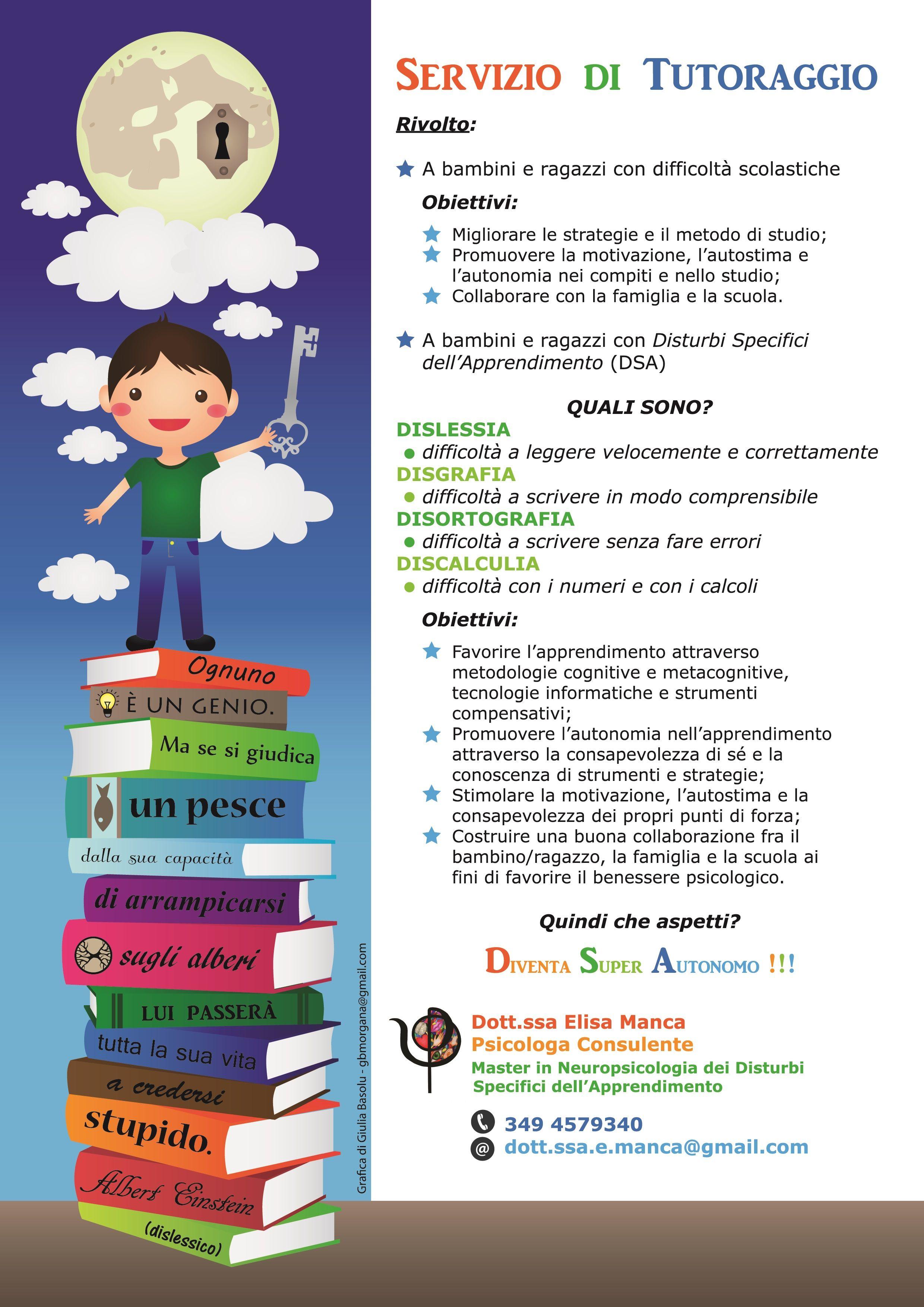 Locandina Tutoraggio. Locandina per un servizio di tutoraggio. #giuliabasolugrafica #graphic #illustration #drawing #illustrator #digitalart #vector #leaflet