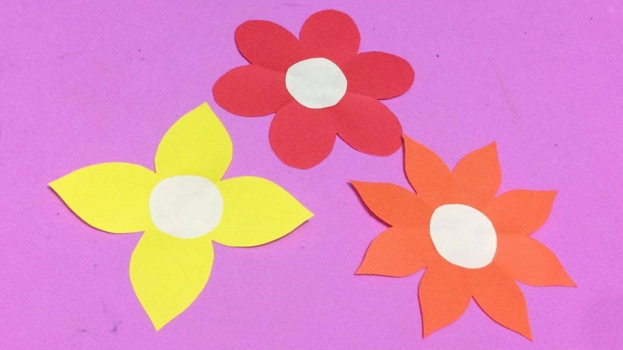 How to make easy flower with color paper diy paper flowers making how to make easy flower with color paper diy paper flowers making mightylinksfo