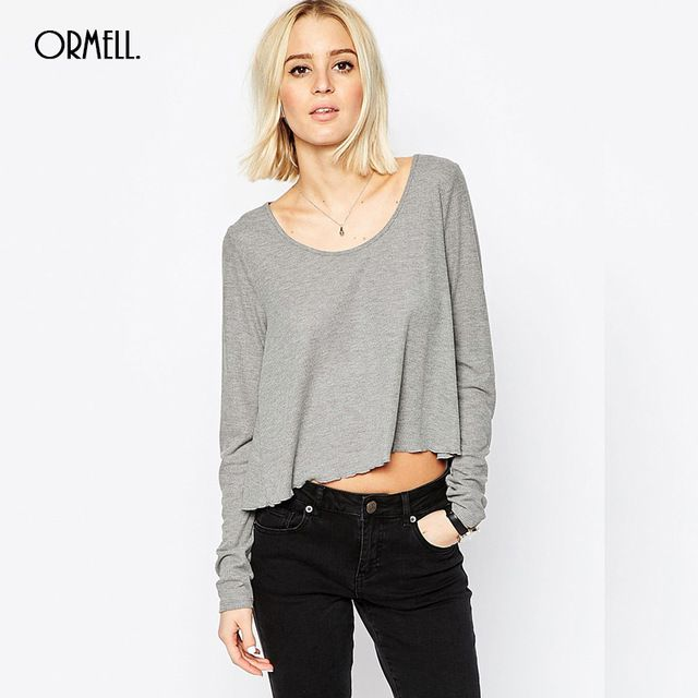 Asos Womens Swing Top In Slouchy Rib With Scoop Neckv Gray Solid - ASOS Basics