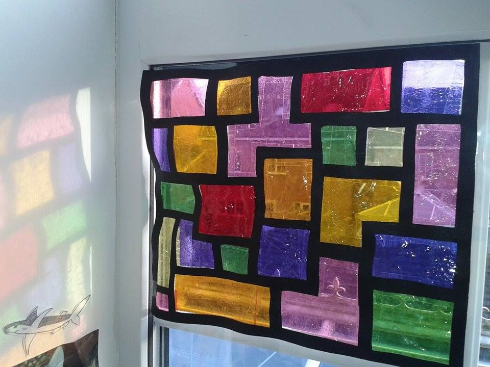Stained Glass Window Diy Quality Street Wrappers Lovely Ideas