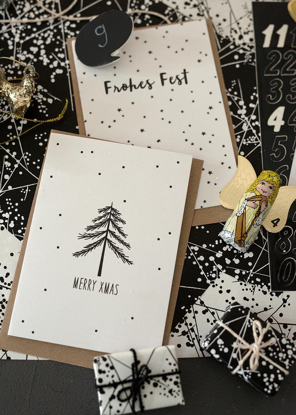 Adventskalender im winterlichen Baumregal - Wunderschön gemacht