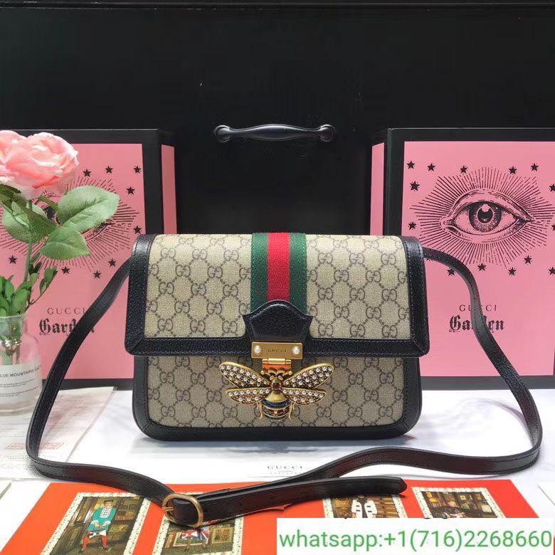 d91eca00f75c Gucci Queen Margaret GG Supreme Medium Shoulder Bag 524356   gucci ...