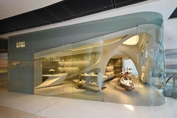 Stuart Weitzman Boutique By Zaha Hadid In Hong Kong