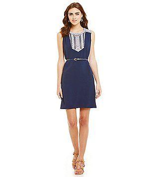 c0e61f1e112 Antonio Melani Tammy Belted Shirt Dress